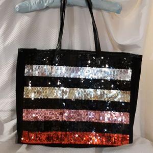 Victoria's Secret bag black sequence